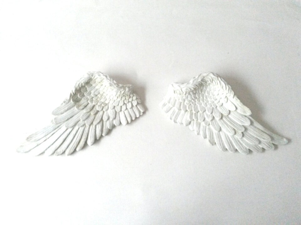 Angel wings wall decor wall art wall hanging small angel for Angel wings wall decoration uk