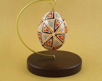 Pysanky Pisanki Ukrainian Polish Easter Egg Wacko 40 Triangles Hand Decorated Chicken Egg