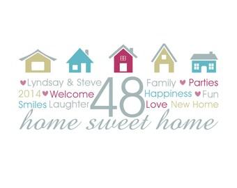 Home Sweet Home Personalised Print