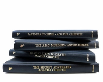 Agatha Christy Mystery Novels / Vintage Books/Book Decor/ Decorative Books/ Instant Library / Library Filler / Home Decorating / Study Decor