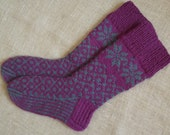 Hand knitted wool socks