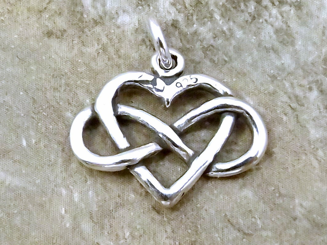 Sterling Silver Infinity Heart Symbol Everlasting Love Charm Fits