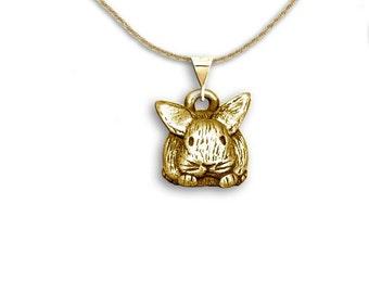 14K Gold Bunny Pendant
