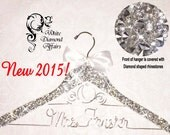 Bling Wedding Dress Hanger, Personalized Disney Wedding Carriage Bridal Hanger, Wire Name Hanger, Crystal Rhinestone Valentine Gift