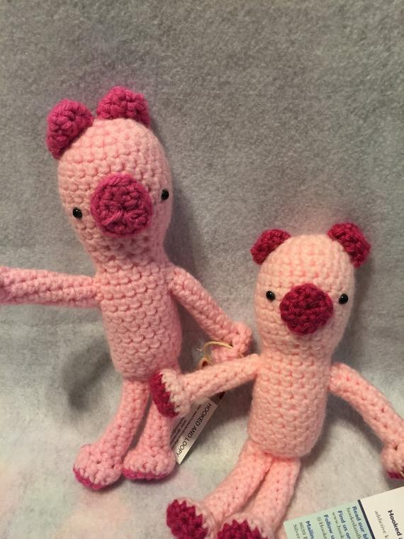 Amigurumi Stuffed Animals : Amigurumi Little Pig Stuffed Animal by hookedandloopy on Etsy