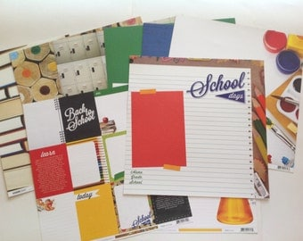 NEW Kaisercraft - 2 Cool 4 School Collection- 12 x 12 Double Sided paper