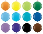 "36 inch Round Balloons in Solid Colors - 36"" Balloons from The TomKat Studio Party Shop"