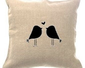 Love Birds Pillow Cover Wedding Anniversary