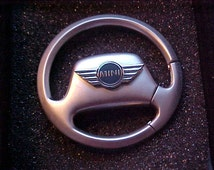 Mini Cooper Metal Steering Wheel Key Ring Holder Custom Made Top Quality Product Nicest Around World Class Comes Gift Boxed