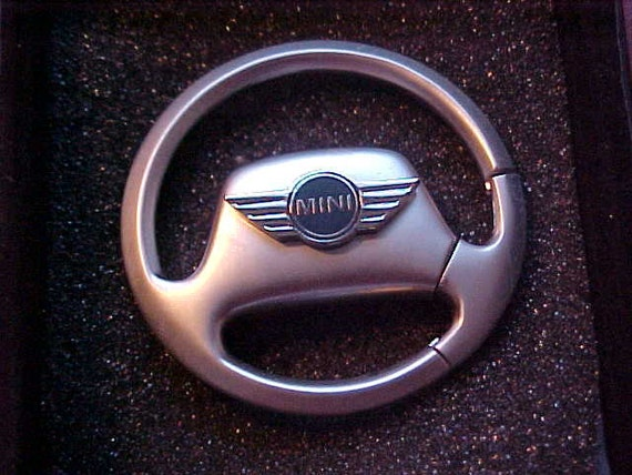 Mini Cooper Metal Steering Wheel Key Ring Holder Custom Made