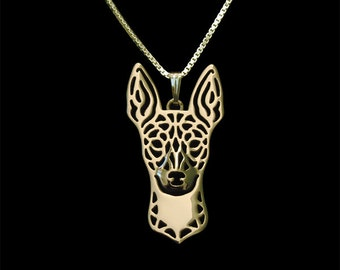 Rat Terrier - gold pendant and necklace.