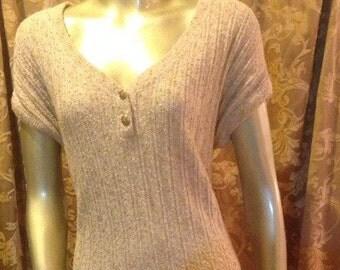 80s Vintage knit dress size 12/14  made by Castleberry
