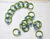 Spring / Stitch Markers - Dangle Free Snag Free Knitting Stitch Markers - Small Medium Large Sizes Available