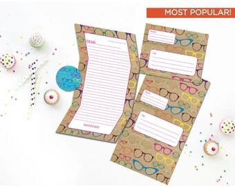 Fun Camp Stationery - Rainbow Camp Stationary Set - Hip Fold and Seal Tween Camp Stationery