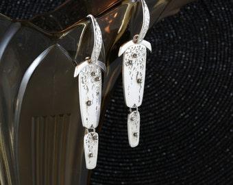 Wisteria 2 fine silver earrings - custom order only