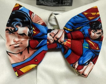 Man of Steel Print Bowtie / Bow Tie