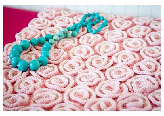 Crochet Baby Blanket Pattern Unique Rose blanket afghan bed