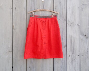 Vintage skirt | Sporty red Lily's of Beverly Hills golf skirt