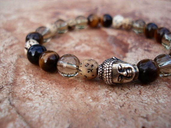 Tiger Eye Bracelet, Zen Jewelry, Buddha Bracelet, Mens Bracelet, Women's Bracelet, Gifts for Men, Mala Bracelet, Spiritual Jewelry