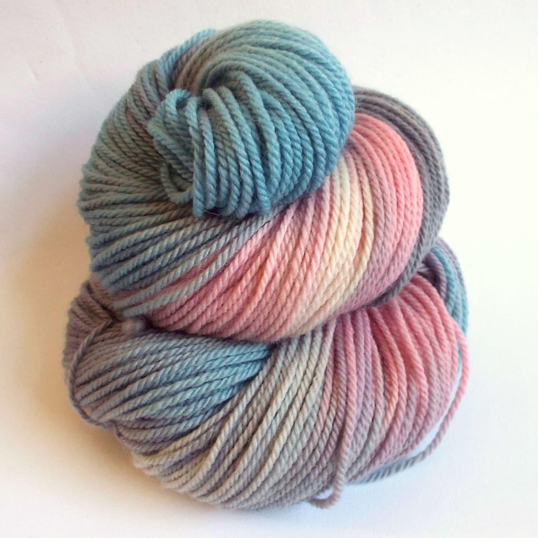 Merino Wool Knitting Patterns : Sock yarn double knit merino yarn hand dyed wool by thefibretree