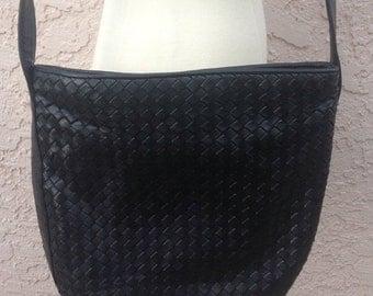 Vintage Nordstrom Black Leather Purse