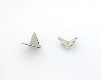 Silver Paper Planes earrings, airplane earrings, aeroplane studs