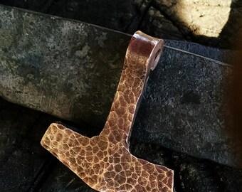 Hand Forged Mjolnir Pendant