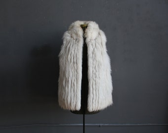Artic Fox Fur Vest.  Size Medium/Large