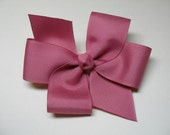 Colonial rose Pink Hair Bow Uniform Simple Traditional Basic Classic Style Toddler Girl You Pick colors