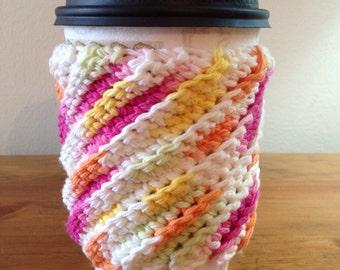 Crocheted Coffee Cozy Cup Sleeve