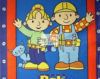 """Bob the Builder By VIP Fabrics Fleece Printed Fabric - 60"""" Width Sold By The Panel (FH65)"""
