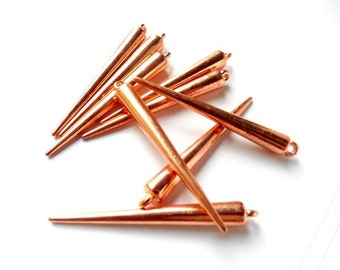 10 Rose Gold Plated Spikes - 6-S-6