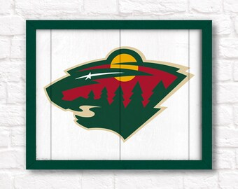 MINNESOTA WILD - rustic handmade sign - Minnesota Wild fan wall sign - Fathers Day gift for Dad