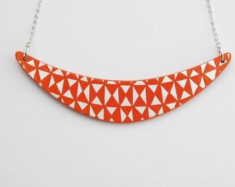 BOOMERANG Necklace Orange