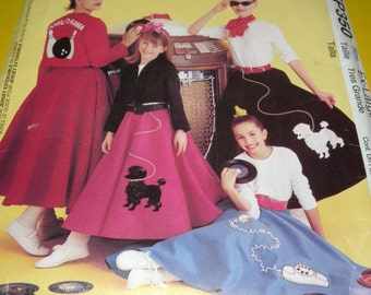 McCalls MP350 1950s Poodle Skirt costume pattern UNCUT sizes 20-22