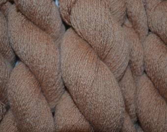 Pure Cashmere Reclaimed Yarn - Light Camel Tan