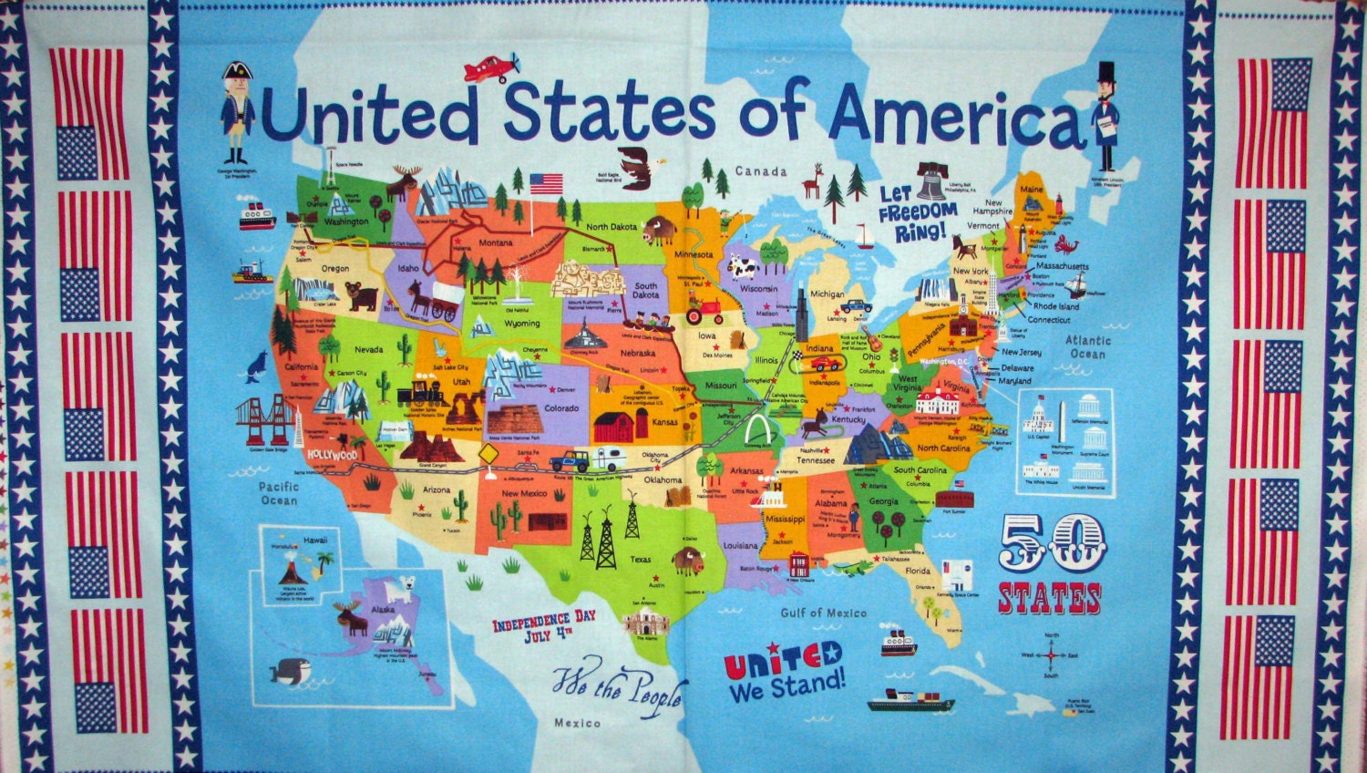 Free Street Names Map The Mall Environs Main Landmarks Most Usa - Us map of tourist attractions