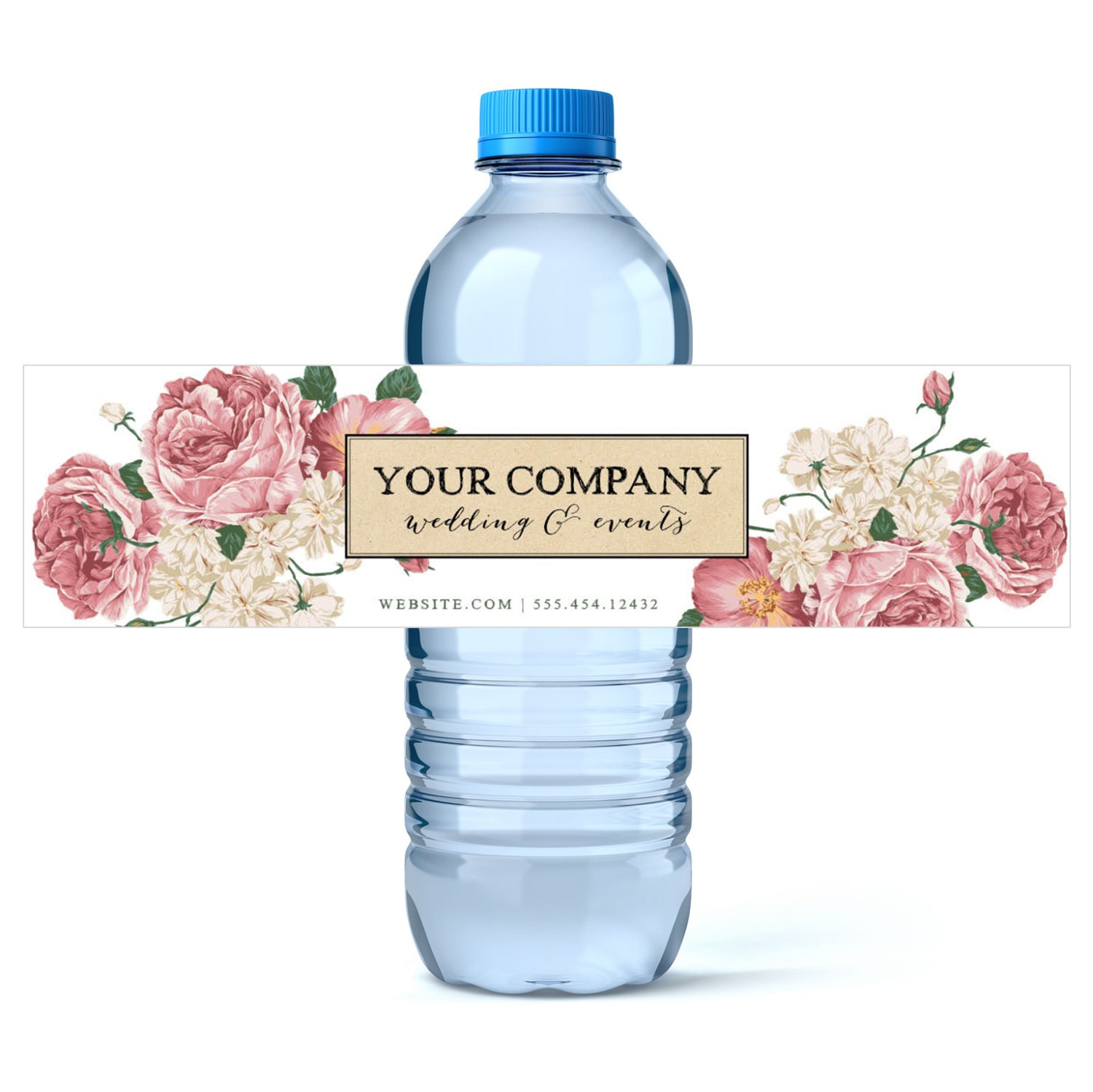 Custom water bottle labels wedding planner business water for How to put labels on bottles