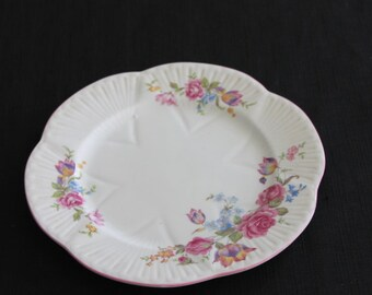 Vintage Shelley Rose Bouquet Luncheon Plate England