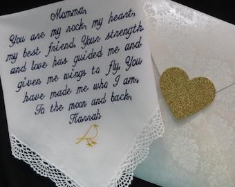 Wedding Handkerchief for the Mother of the Bride E4
