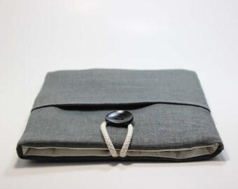 "Lenova Yoga 3 Sleeve HP Chromebook Case Custom Laptop Bag Foam Padded Handmade Custom 15"" Laptop Cover- Charcoal Grey"