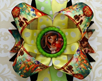 Book of Life inspired stacked layered hair bow