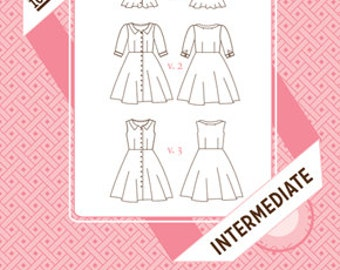 Hawthorn Dress Pattern by Colette Patterns - Intermediate - Dress - Pattern - Dress Pattern - Sewing Pattern - Colette Patterns