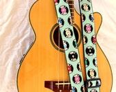 Retro Records Guitar Strap