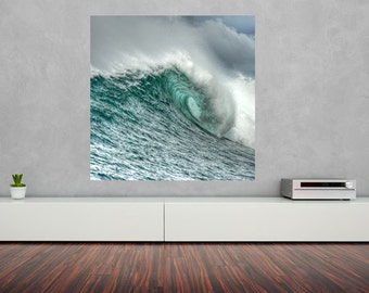 "Eye of The Dragon - Wave Art - Surf Art - Ocean Art - Fine Art Photography 8""X8"" - Home Decor"