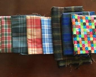 Destash Cotton Fabric - Plaids