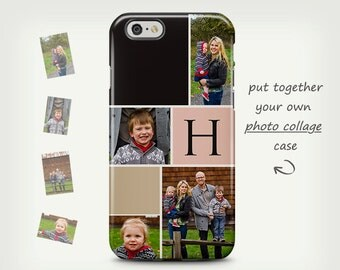 Photo collage case, iPhone 6 case, Photo case, iPhone 5s case, personalized case, iPhone 7, custom case, Samsung Galaxy cases, photo gift