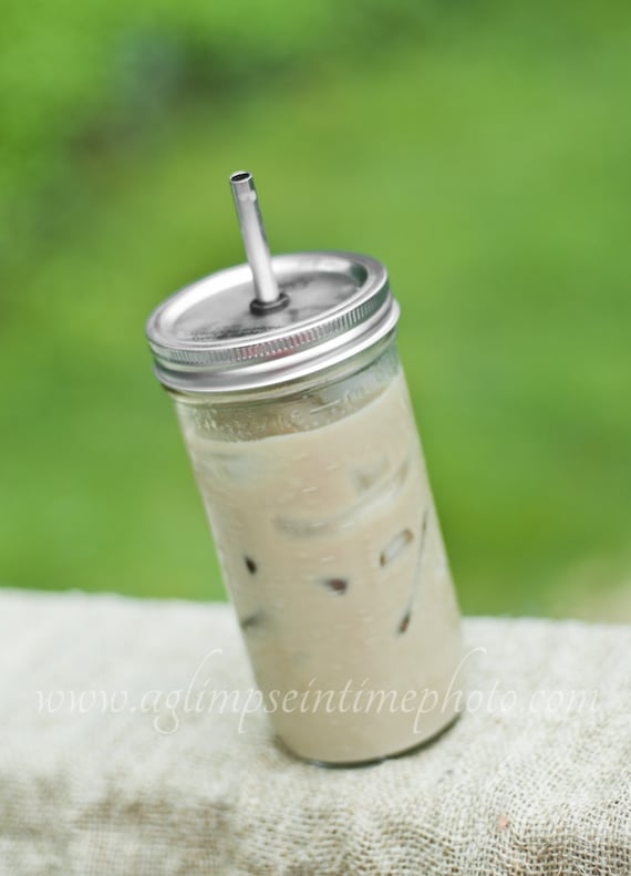 Hard to Find 24oz Mason Jar To Go Cup With Stainless Steel Straw Fits in Cup Holders Eco Friendly
