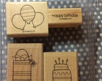 Stampin Up 'Bitty Birthday' rubber stamps