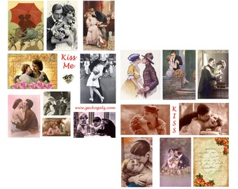 SALE>>>>>>>>>Kiss Me digital Collage Set<<<<<<<<SALE